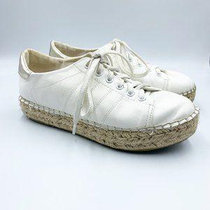 Steve Madden White Tamilyn Espadrille Sneakers